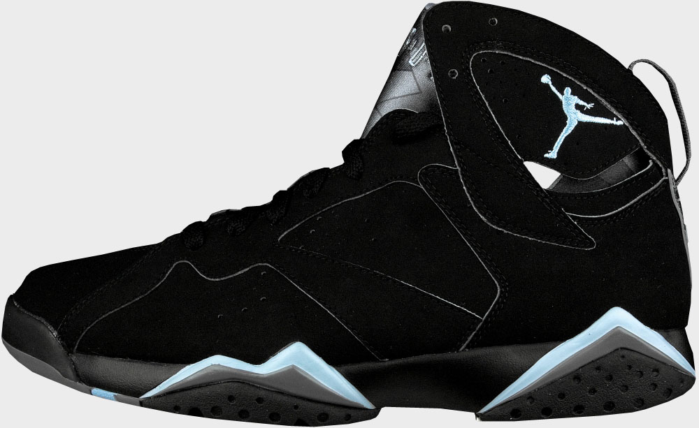 Air Jordan 7 Retro Black Chambray Light Graphite shoes