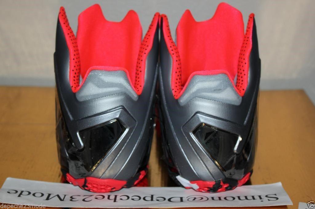 62becbf9e8b Nike LeBron 11 Elite Wolf Grey Crimson Cool Grey Black 642846-001 (4)