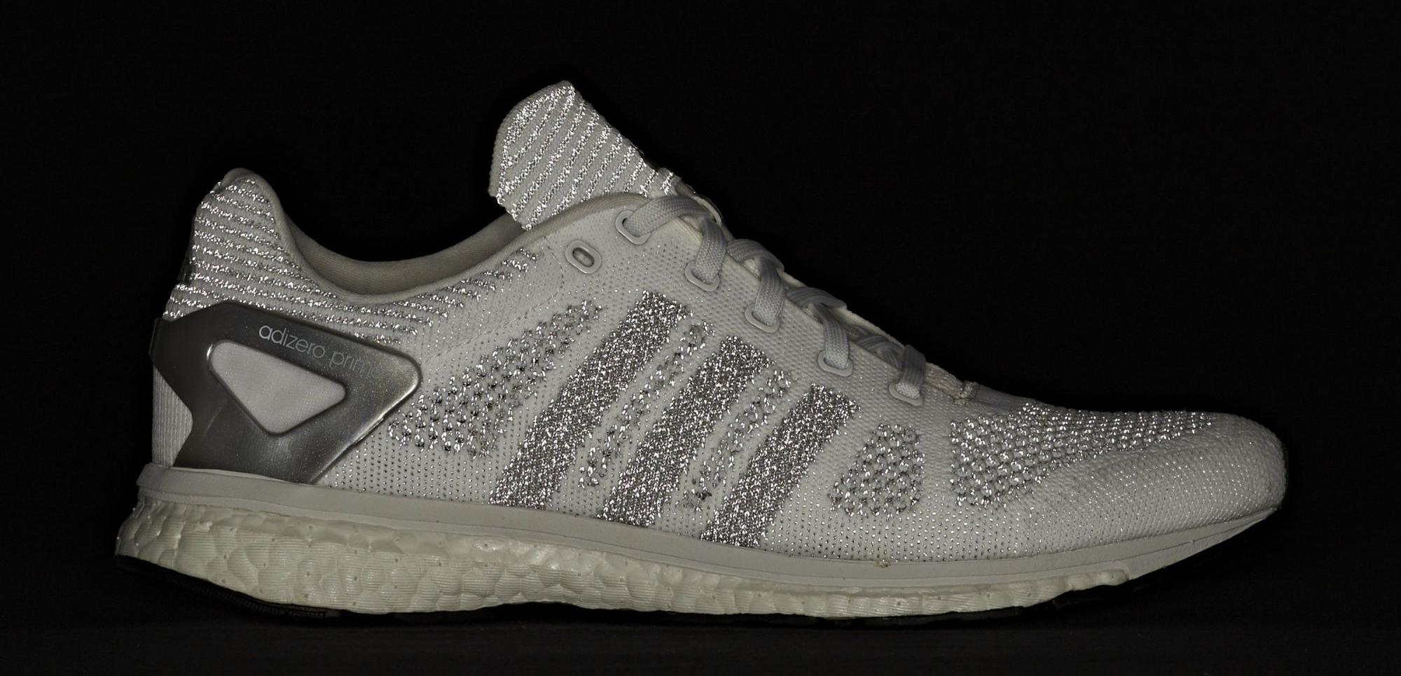Adidas Adizero Primeknit White Reflective Flash