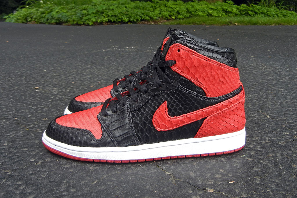 Air Jordan 1 'Bred' Python by JBF Customs (6)