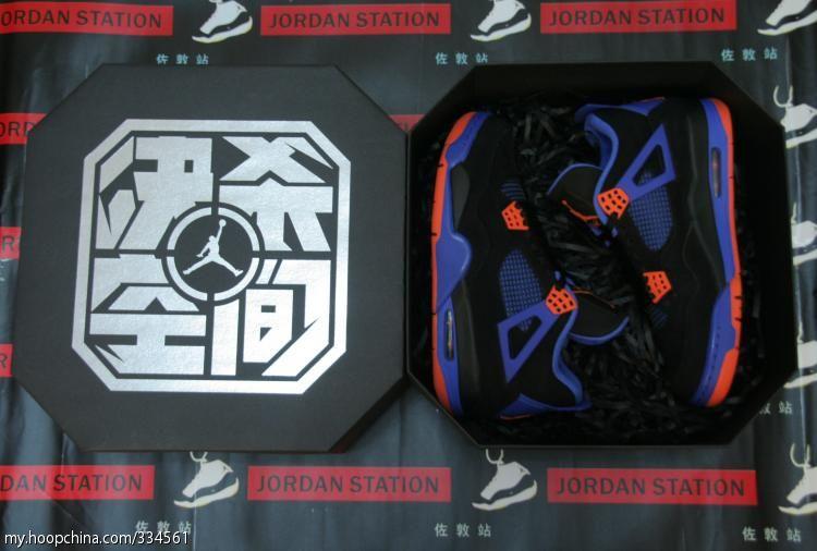 dc4f62aa1be Air Jordan 4 IV Cavs Knicks Shoes Black Orange Blaze Old Royal 308497-027 (