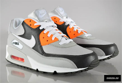 nike air max 90 grey and orange