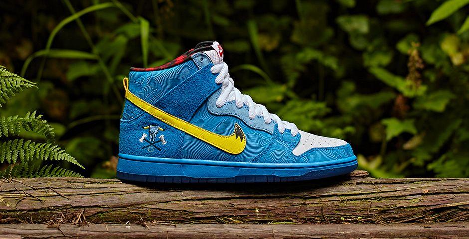 05510dbb021f Familia x Nike Dunk High SB Paul Bunyan Babe Blue Ox 313171-471 (1