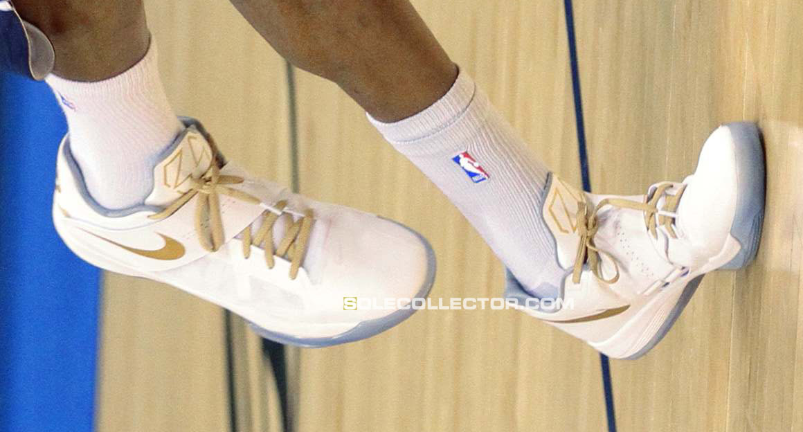 san francisco 1f542 510e1 Nike Zoom KD IV White Gold