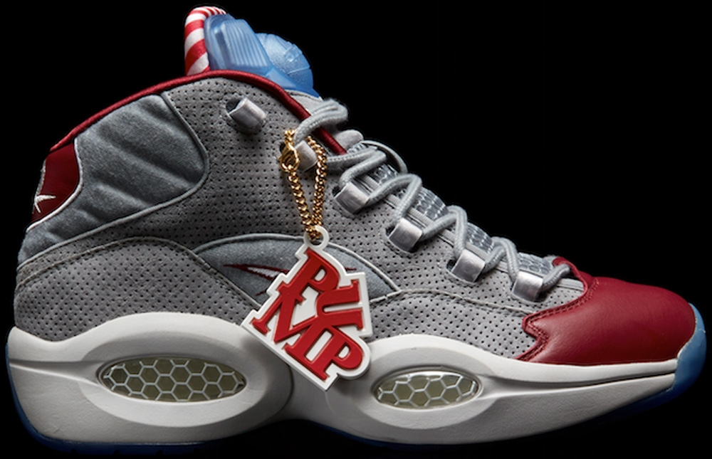 Reebok Pump Question Mid Grey/Red-White