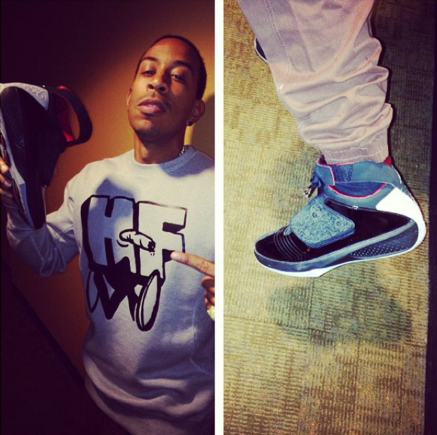 Ludacris wearing Air Jordan 20 XX Stealth