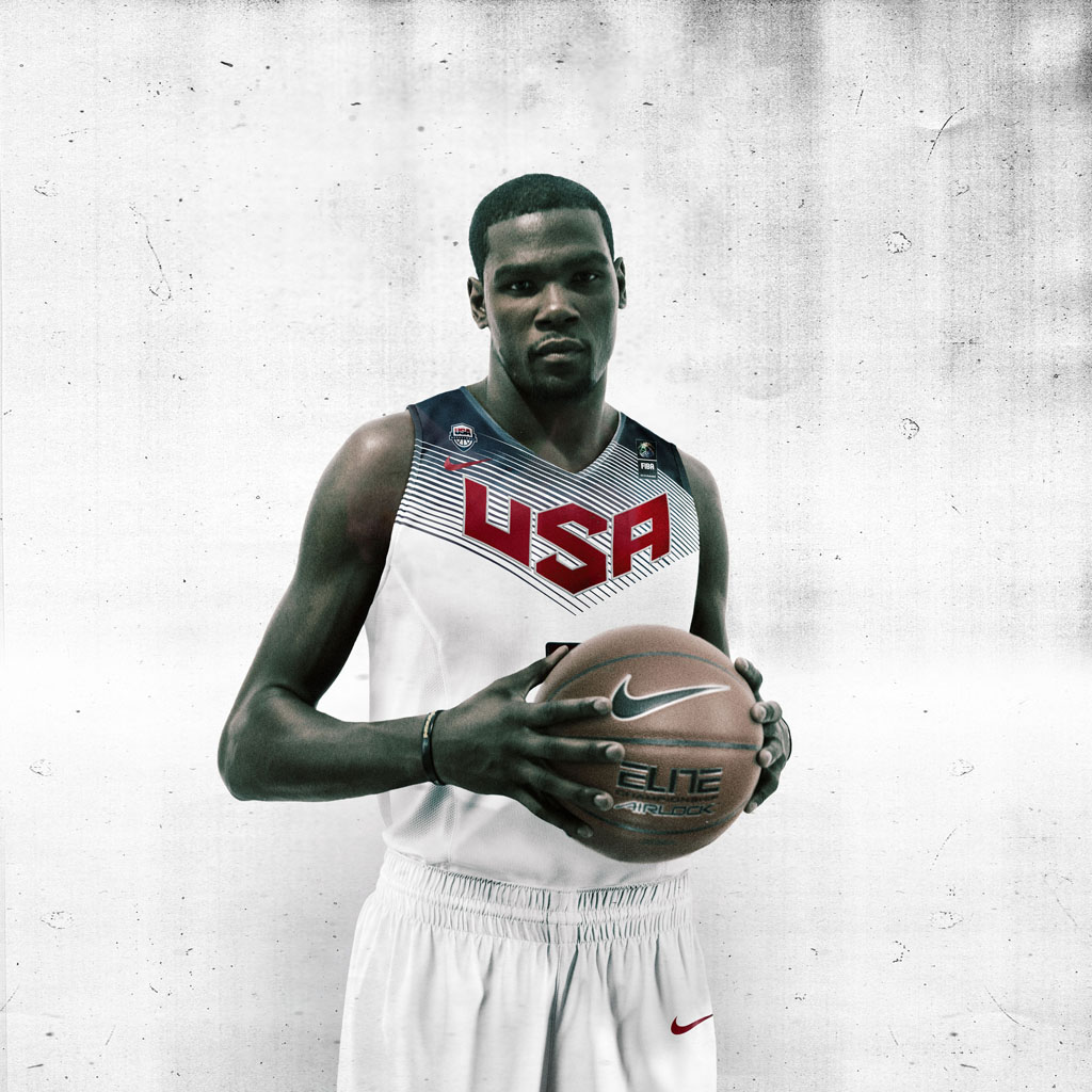 Nike Basketball Unveils 2014 USA Basketball Uniforms - Kevin Durant (1)