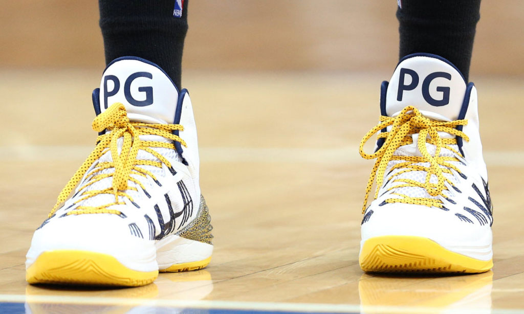 Paul George wearing Nike Hyperdunk 2013 Home PE