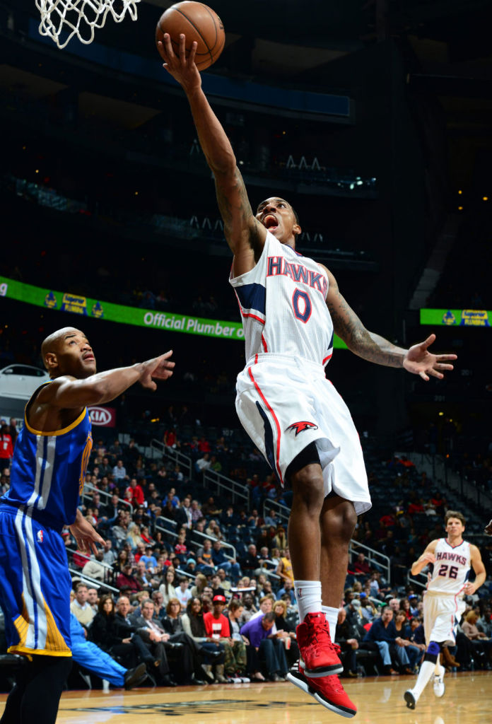Jeff Teague wearing adidas adizero Rose 2.5 Brenda