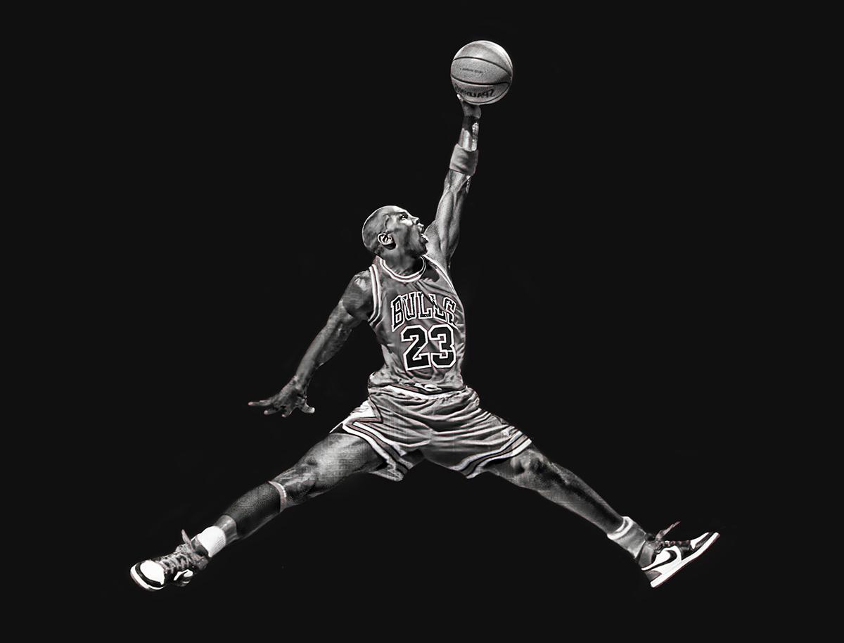 An illustrator updated the air jordan 39 jumpman 39 logo - Jordan jumpman logo wallpaper ...