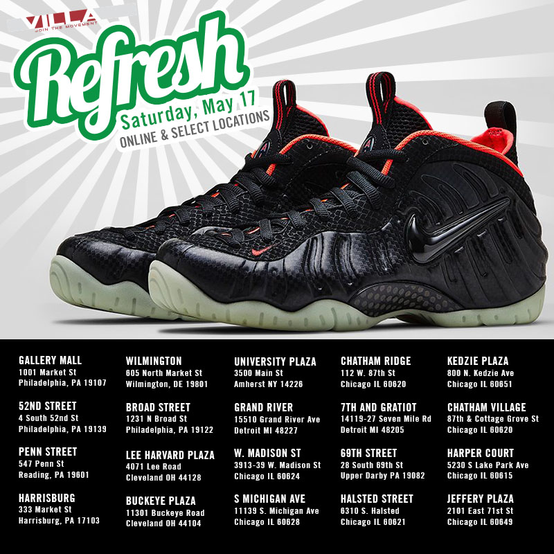 VILLA's 'Yeezy' Foamposite Pro Refresh Set for this Saturday