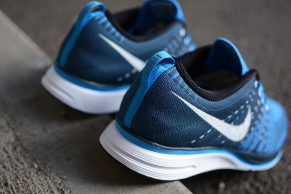 5838ff2ea4c2 The Squadron Blue Blue Glow Flyknit Trainer+ by Nike is expected tp hit  select accounts soon.