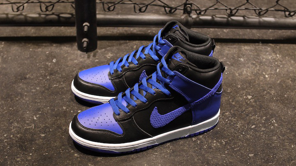 new style 07593 03489 Nike Dunk High LE - Black  Old Royal  White