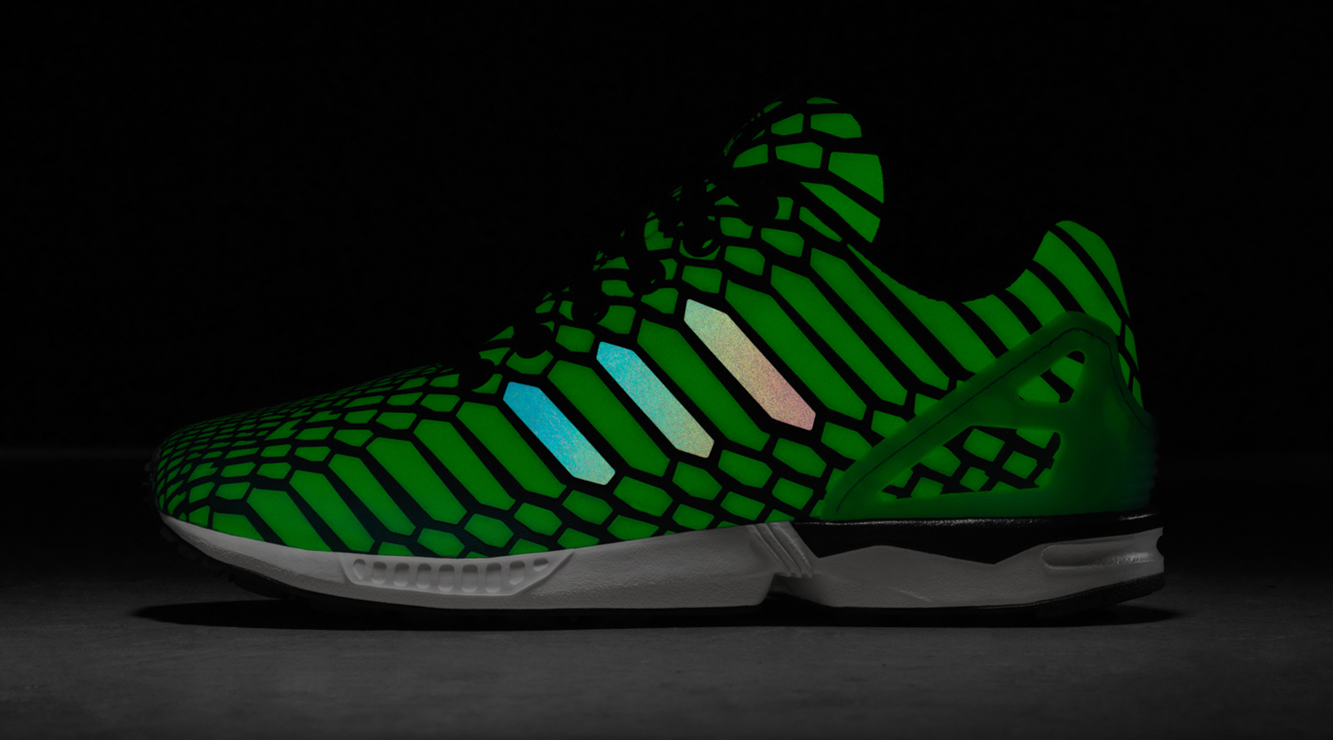 a82dde97d088a Adidas Lights Up All-Star Weekend With Glow in the Dark Reflective Shoes