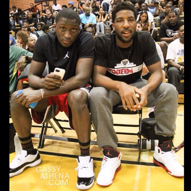 0aaf2003985e74 ... discount code for victor oladipo wearing air jordan xi 11 low concord  peshon howard wearing air