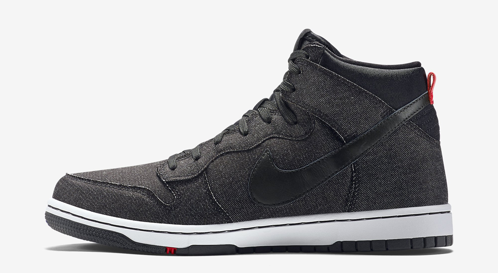 new photos b216f 141f1 UPDATE 4 14  Nike released the black denim Dunk High CMFT online via  Nikestore.
