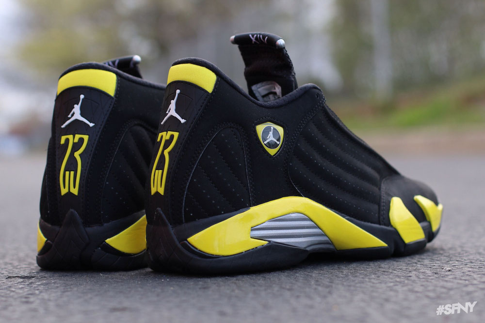 air jordan 14 black and yellow