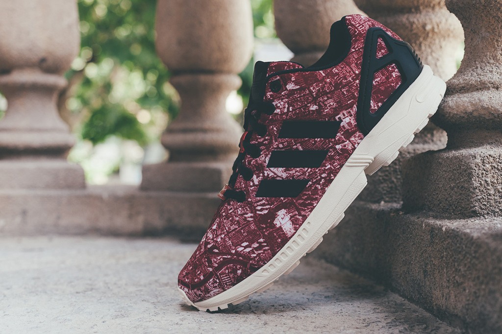 Adidas Zx Flux Maroon And Gold