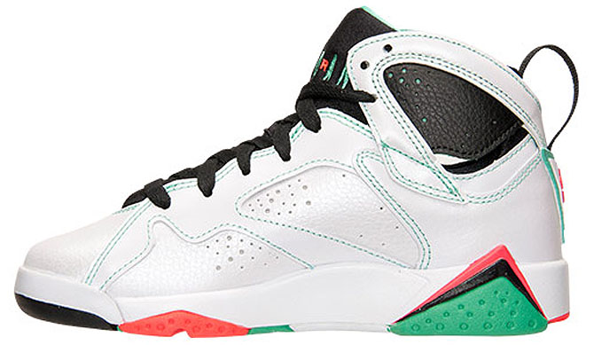 Air Jordan VII 7 GS White/Infrared-Black-Verde 705417-138 (3)