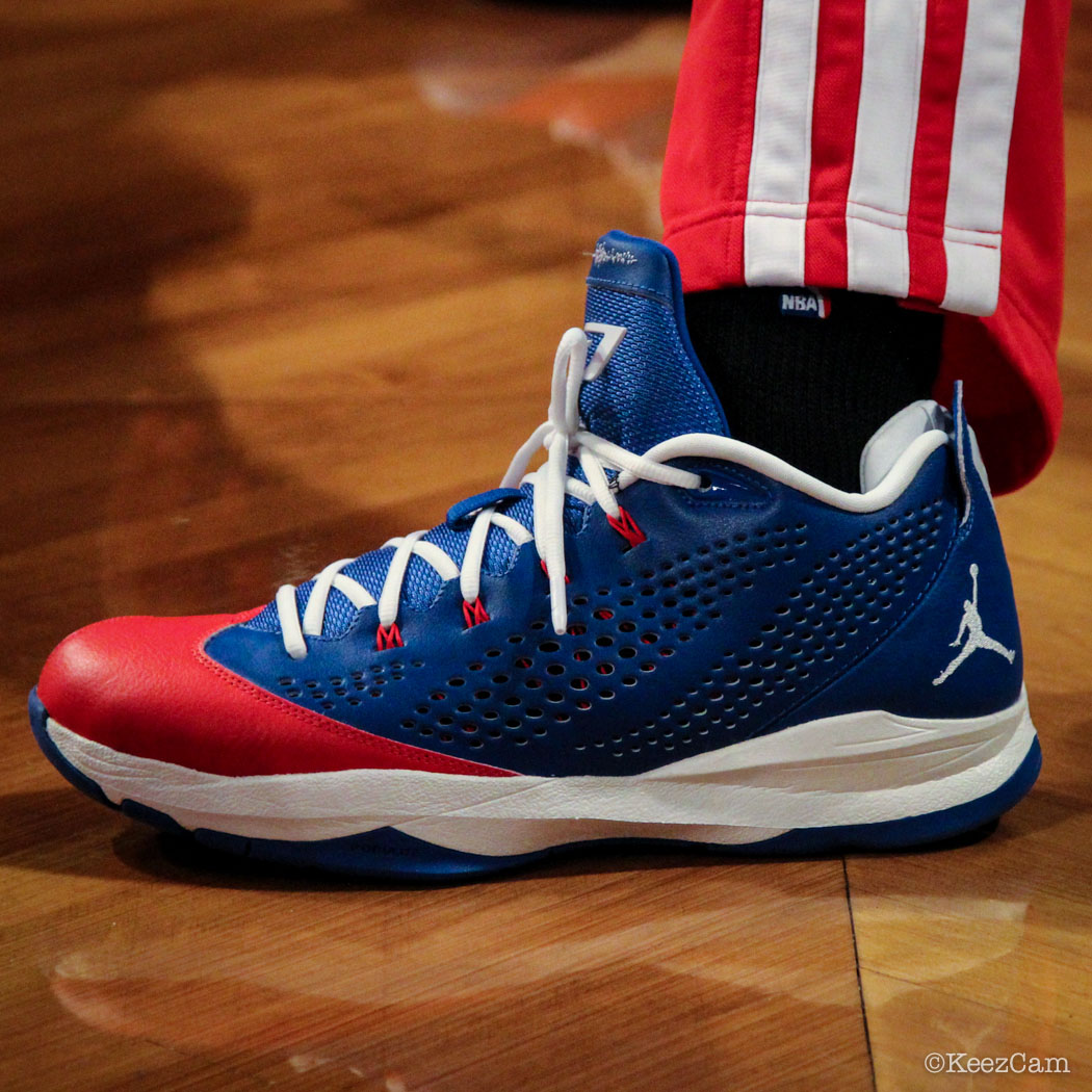 SoleWatch // Up Close At Barclays for Nets vs Clippers - Chris Paul wearing Jordan CP3.7