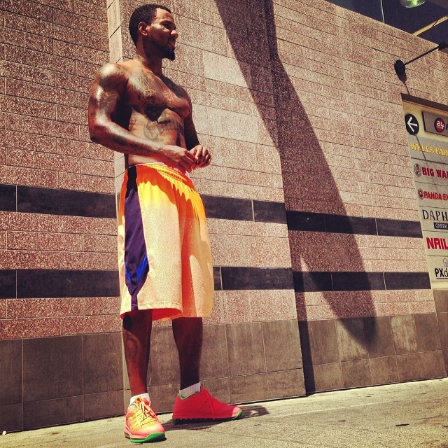 The Game wearing Nike LeBron10 Low Watermelon