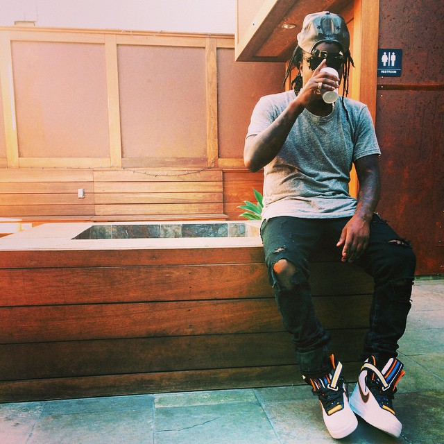 Wale wearing Nike Air Force 1 High RT