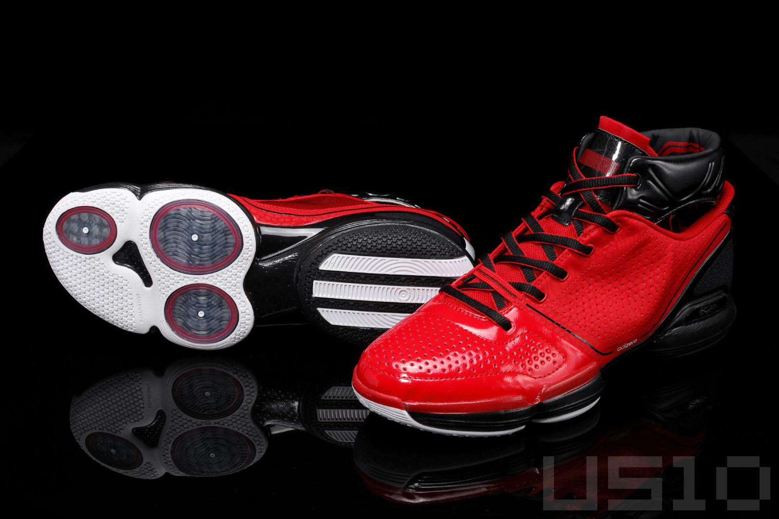22a702b59b3d adidas adiZero Rose - University Red Black - Detailed Images