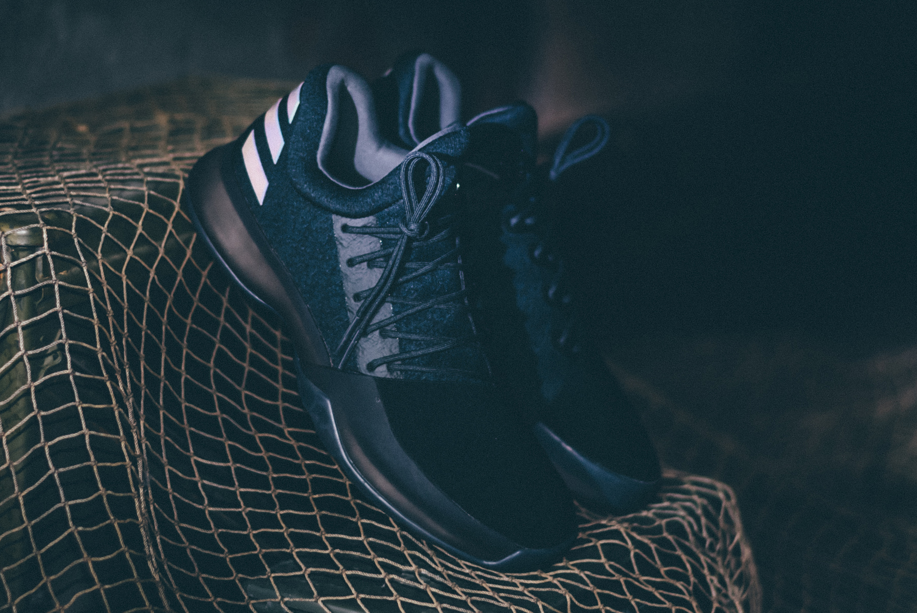 Adidas Harden Vol 1 Triple Black Dark Ops Xeno 3