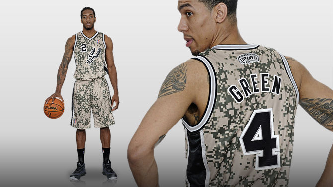San Antonio Spurs Unveil New Military-Inspired Uniforms