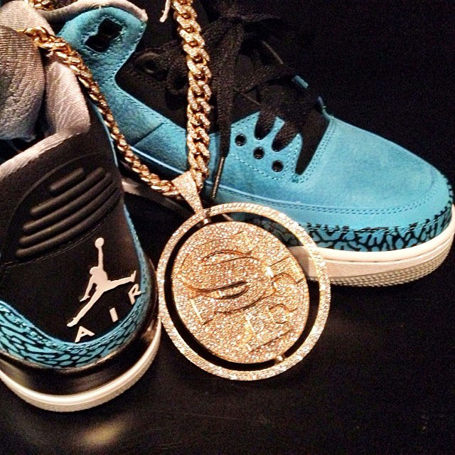 Fabolous Picks Up Air Jordan 3 Retro Powder Blue
