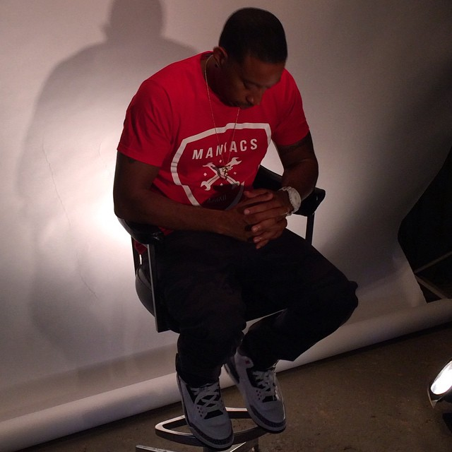 Ludacris wearing Air Jordan III 3 Infrared 23
