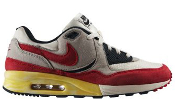 Nike Air Max Light Vintage White/Neutral Grey-Sport Red