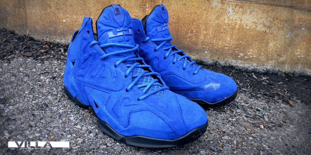 info for b3fc4 27d3d Nike LeBron XI 11 EXT Blue Suede (5)