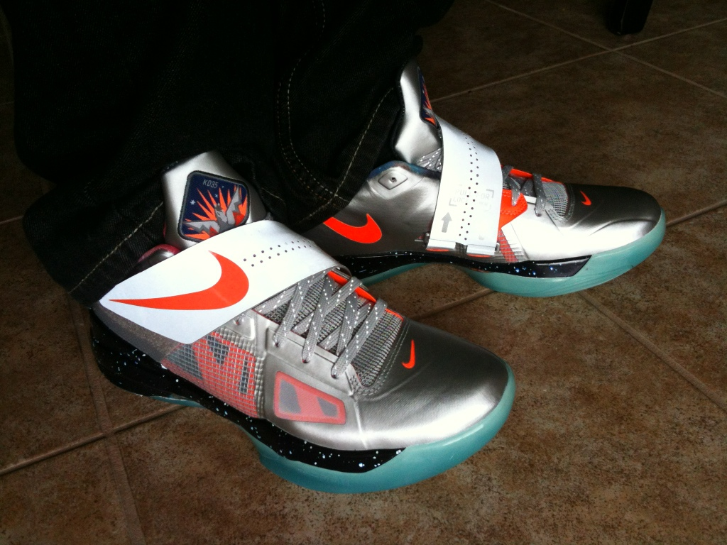 97c9f01039cb Nike Zoom KD IV - All-Star   Galaxy - On-Foot Images