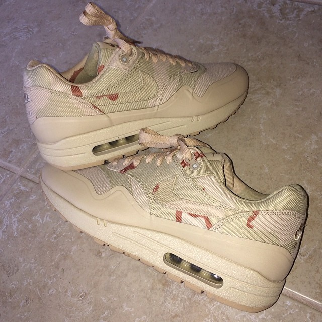 Shane Victorino Picks Up Nike Air Max 1 Desert Camo