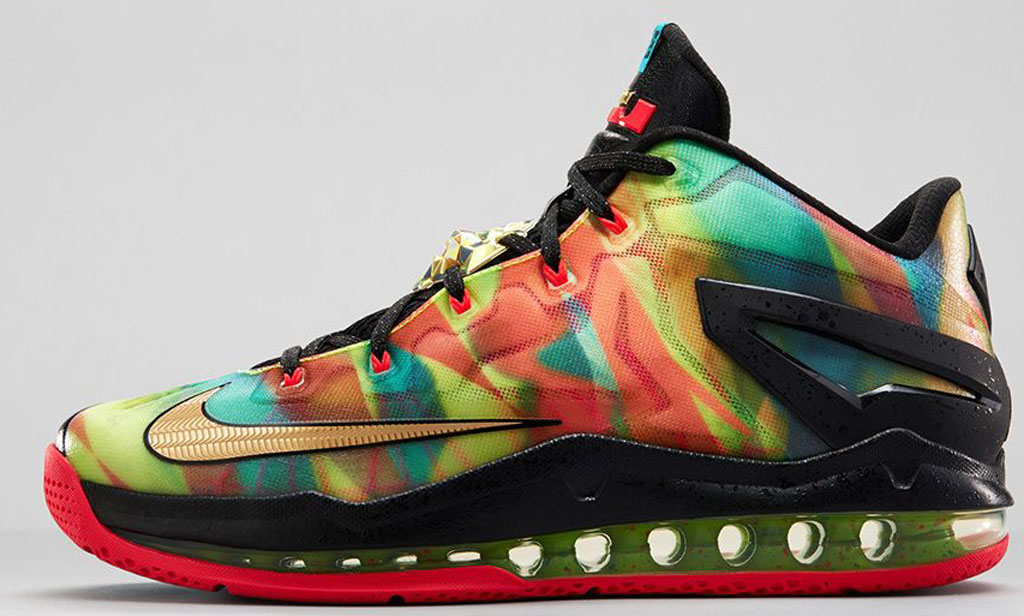 new products 3f587 358d7 Nike LeBron 11 Low SE  Championship  695224-970 Multi-Color Metallic  Gold-Black