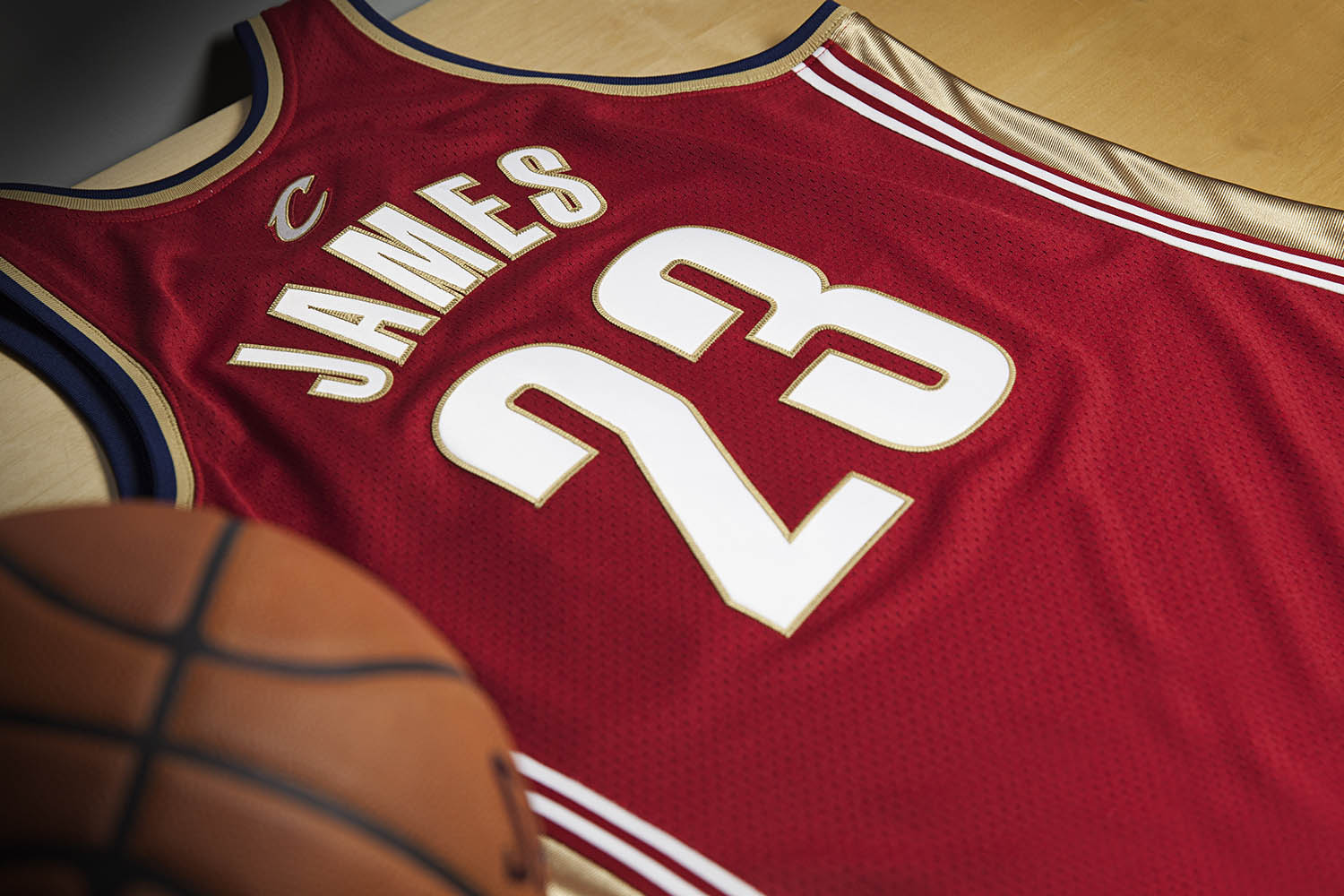 Mitchell & Ness LeBron James Rookie Jersey Back