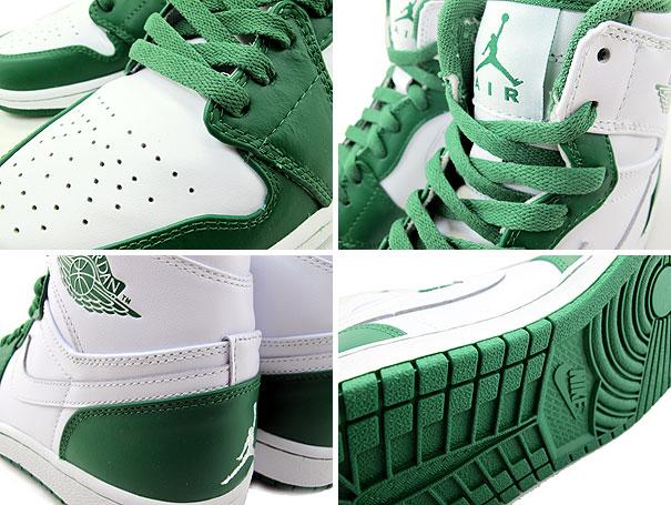 a79567841e0583 Air Jordan Retro 1 High Color Pack White Pine Green 332550-107