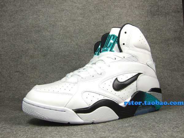Nike Air Force 180 High White Blue Emerald Wolf Grey Black 537330-100 (5)
