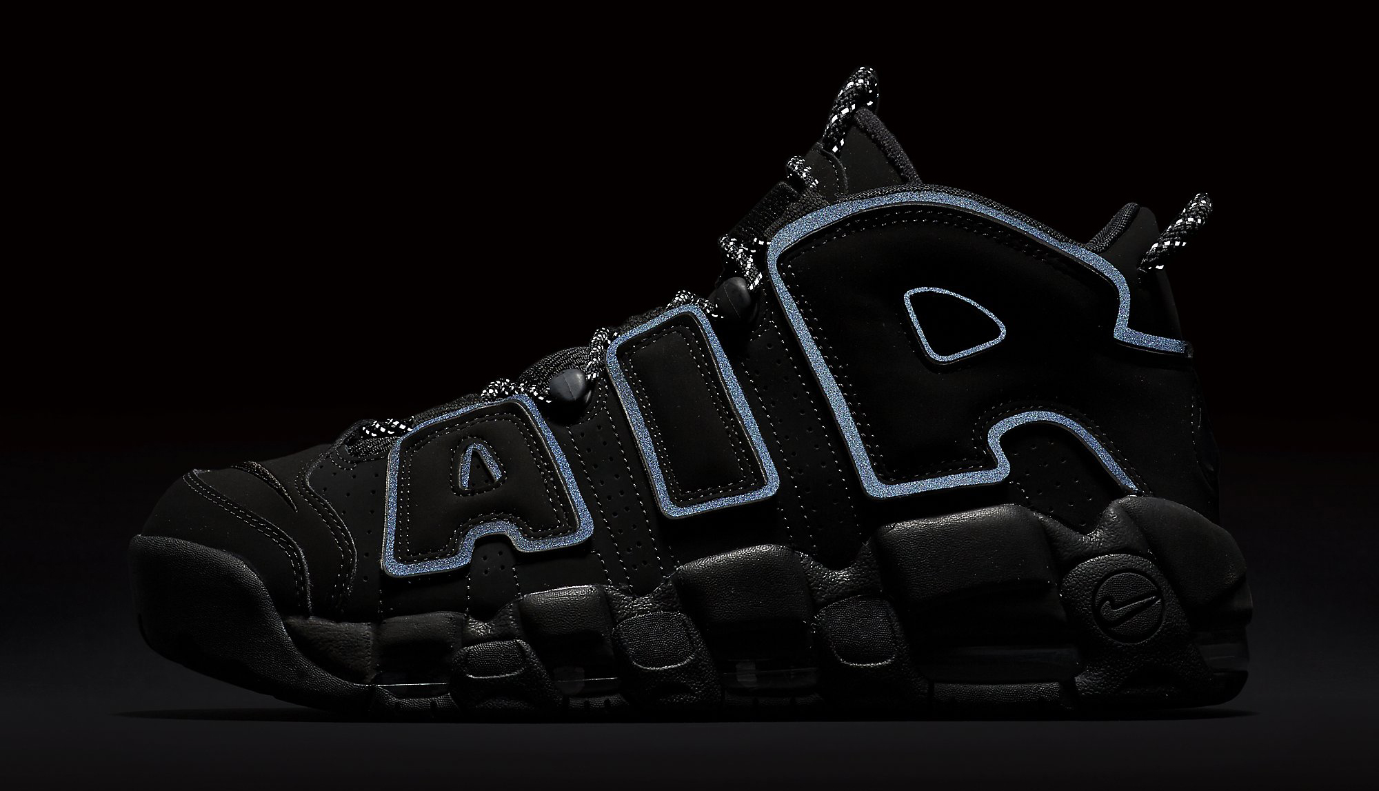 Nike Air More Uptempo Black Reflective 414962-004 3M