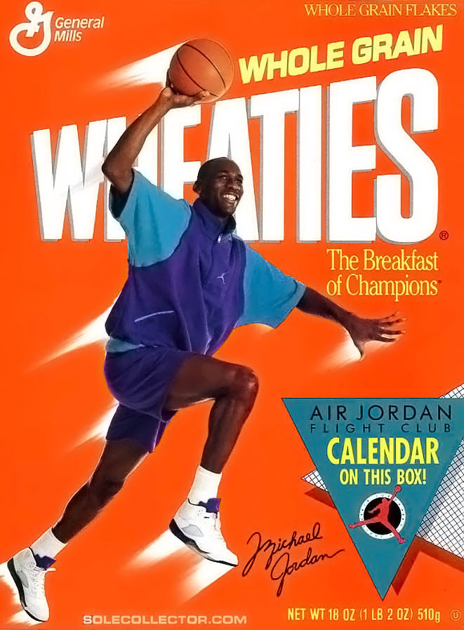 Wearing Box Wheaties On Jordan Vintage AdMichael 2EDWHY9I