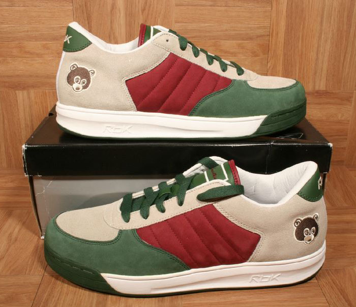 Kanye West Reebok S. Carter Classic Low Racing Green/Triathlon Red-Succo