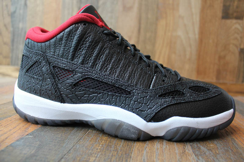 sale retailer dea14 1135b Air Jordan Retro 11 Low IE - Black Varsity Red-White - New Images