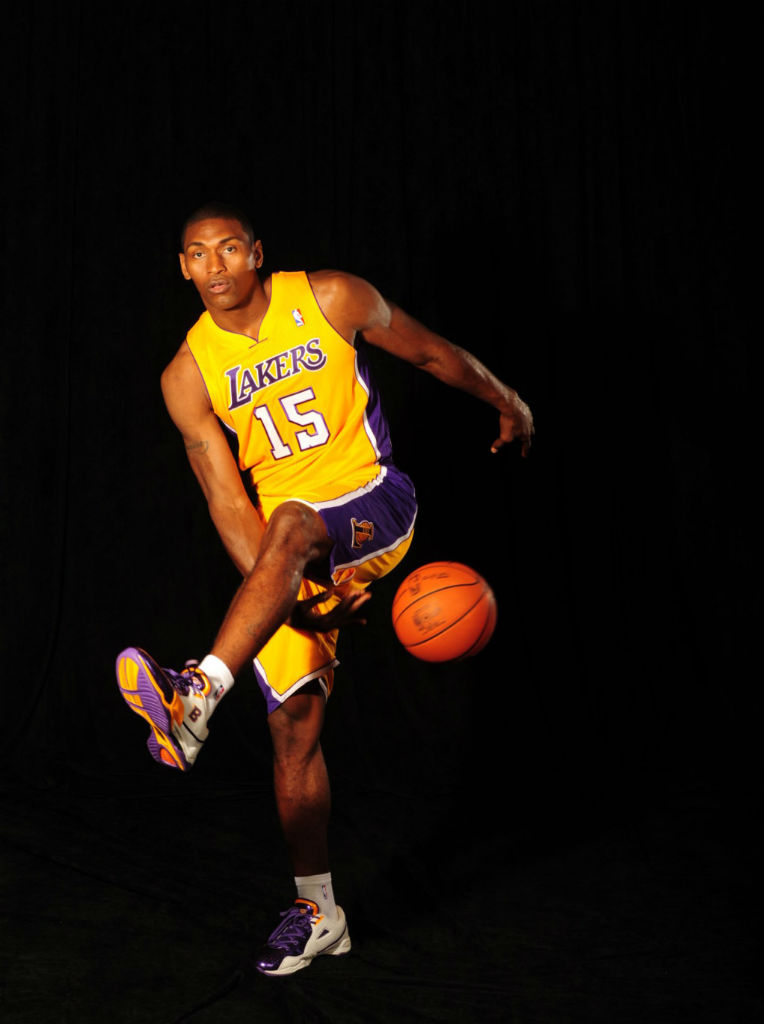 Ron Artest wearing BALL'N Layup