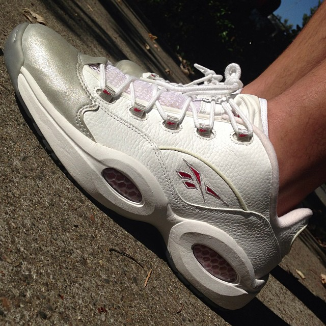 Reebok Question Low White/Reflective Silver
