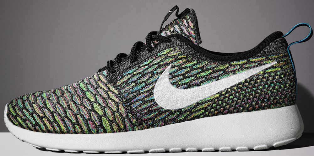 Nike Roshe Run Flyknit Black/White-Multi-Color
