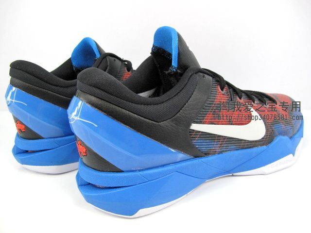 Nike Zoom Kobe VII Poison Dart Frog Black White Red Blue 488371-403 (3)