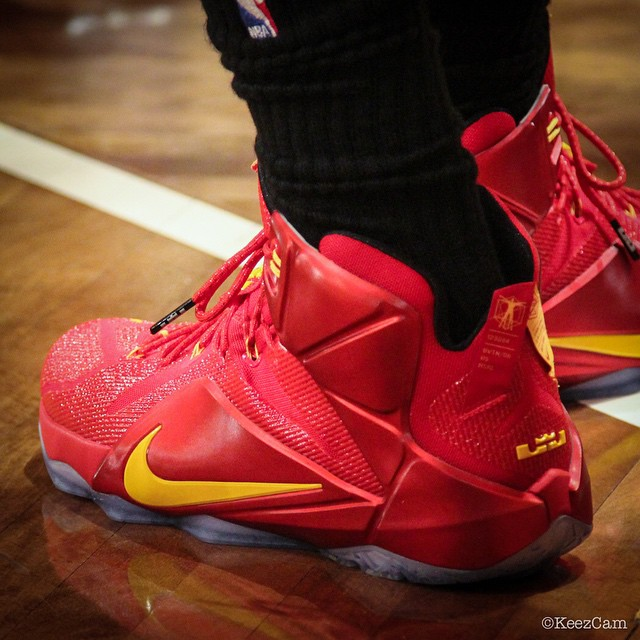 Nike LeBron XII 12 Red/Yellow PE (7)