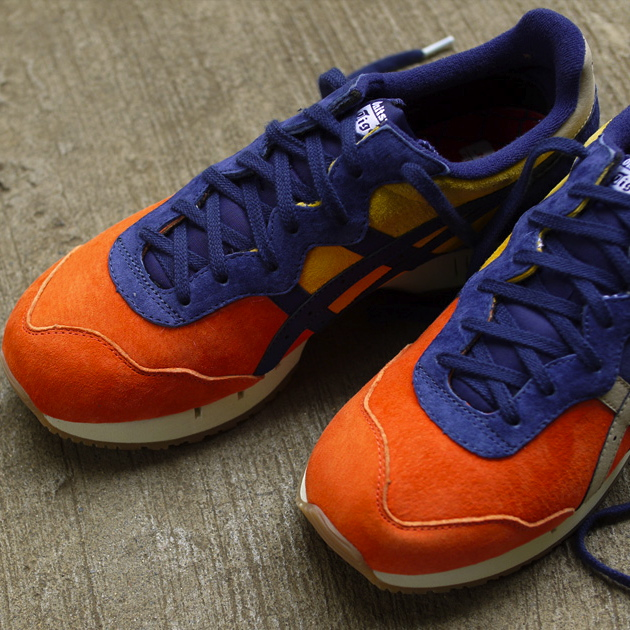 mita sneakers x Onitsuka Tiger X-Caliber Tequila Sunrise detail