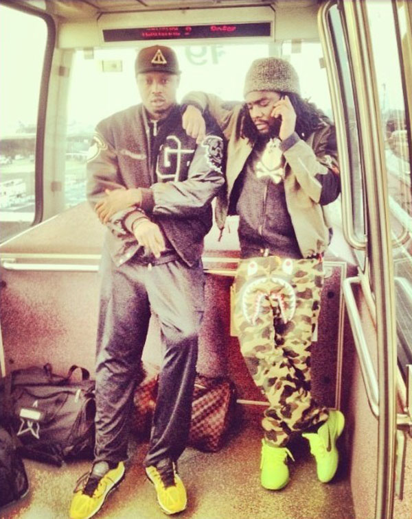 Wale wearing Nike Kobe 6 Grinch